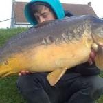 Diego met zijn vangst van de 159