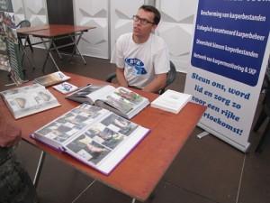 BVK-stand op de VBK jeugdinitiatie 'hengelen op karper'.