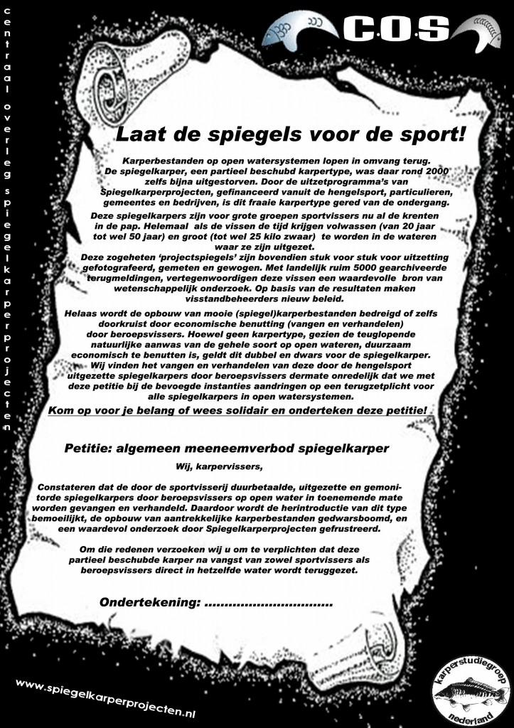 Petitie : Laat de Spiegels voor de Sport !