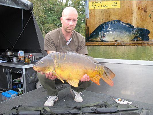 Winnaar Mark van den Berg met een klapstaart uit 1999
