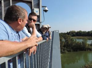 Overzicht over de vijvers bij van der Put vanaf de recreatietoren